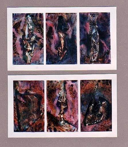 ENTRE EL MAR Y LA TIERRA, collage, 1990.