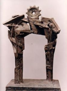 PORTAL II, cemento, 60 cm. de altura, 1991.