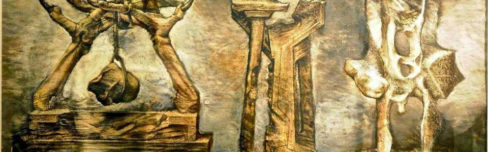 ALTAR A LA GRAN TRIUNFADORA, téc mixta 100 x 70 cm. año 1992-2005.