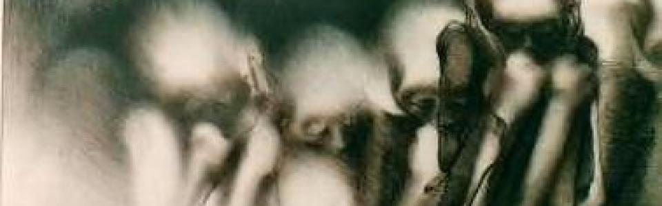 MALKY, tiza tostada, 50 x 70 cm., 1988.