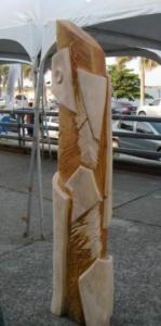 SILENCIO ANCESTRAL II, madera, 180 cm. de altura, emplazada en Formosa, 2014.